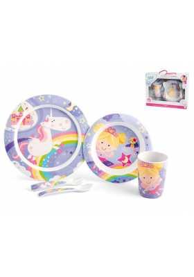 Coffret-vaisselle-avec-assiette-plate-et-creuse-gobelet-couverts-princesses