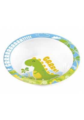 Assiette-Creuse-mélaminé-enfant-Dinosaure